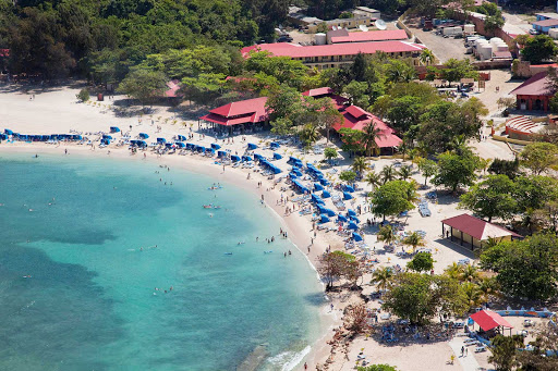 Cavort in the surf when your Royal Caribbean cruise takes you to  Labadee, its 260-acre private beach resort on Haiti's north coast.