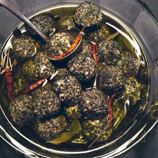 Seasoned Labne Balls in Olive Oil