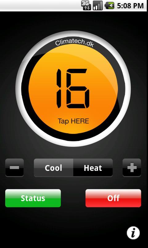 CTSmall SMS varmepumpe styring – screenshot