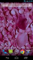 Screenshot of Petals 3D live wallpaper