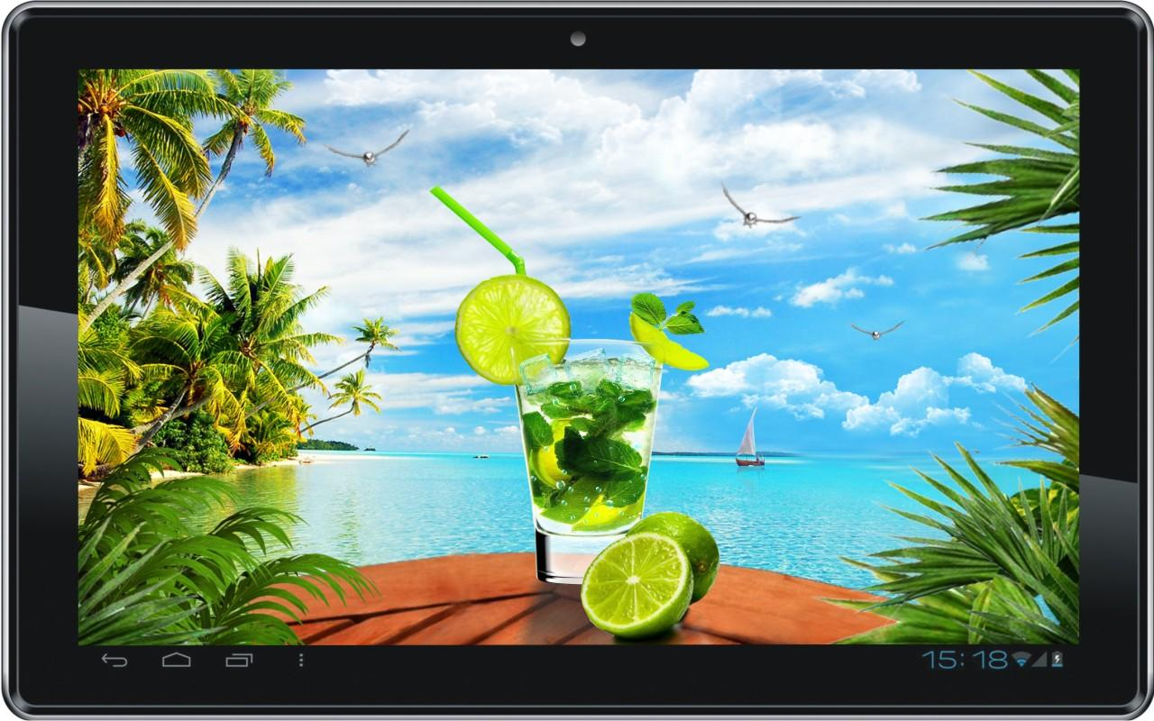Mojito Beach HD live wallpaper - screenshot