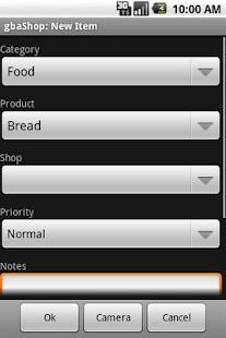 gbaShop Shopping List- screenshot thumbnail