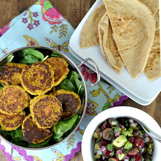 Butternut Squash & Chickpea Patties with Grape-Avocado Salsa.