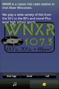 107 3 wnxr home of the hits android apps on google play for Classic house radio station