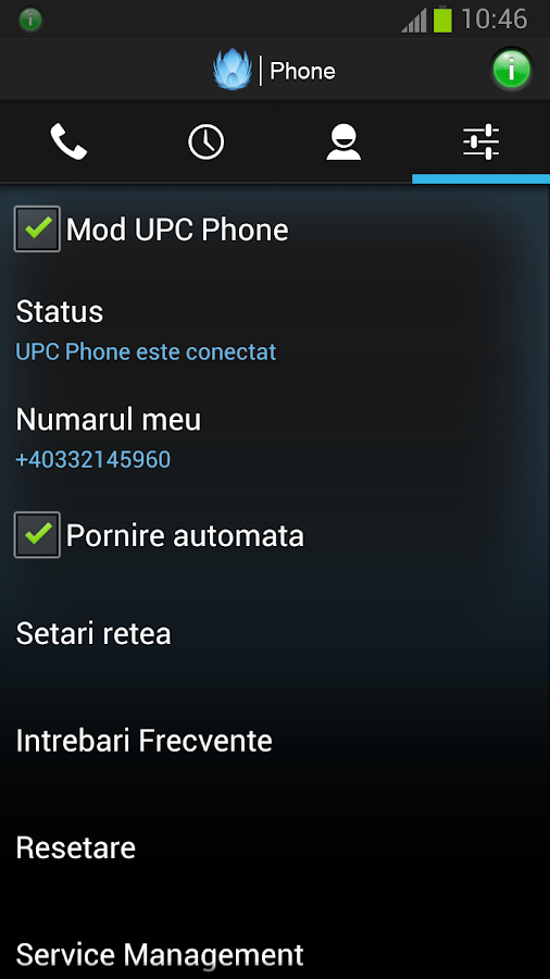 UPC Phone (Romania) - screenshot