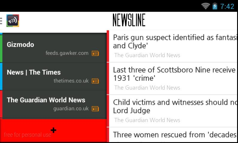 NewsLine (RSS News Reader) - screenshot