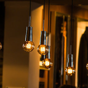 Evening Lights by Franco Beccari - Artistic Objects Other Objects ( abstract, lights, light bulbs, night lights, night, light bulb )