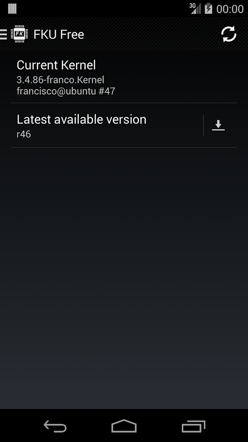 franco.Kernel updater Free - screenshot