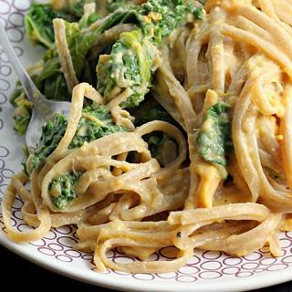 Sweet Potato Cream Pasta with Kale.