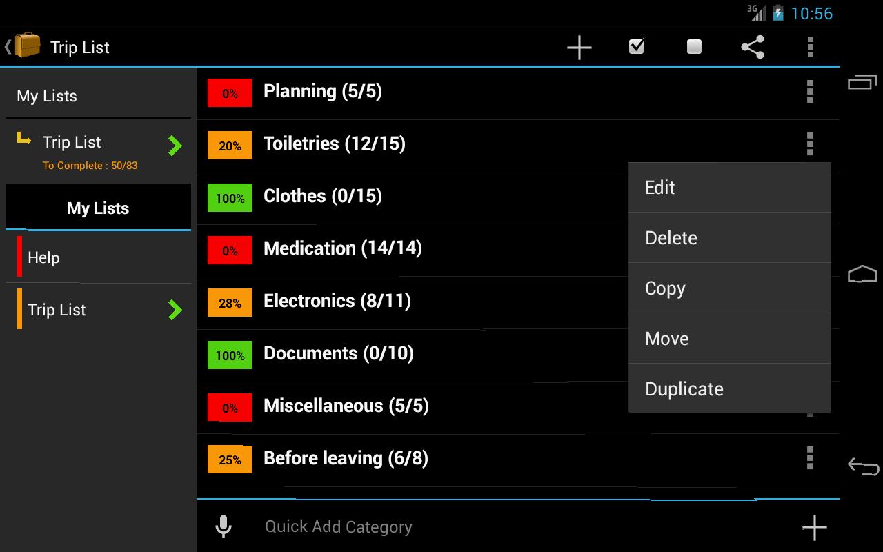 Trip Planner - screenshot