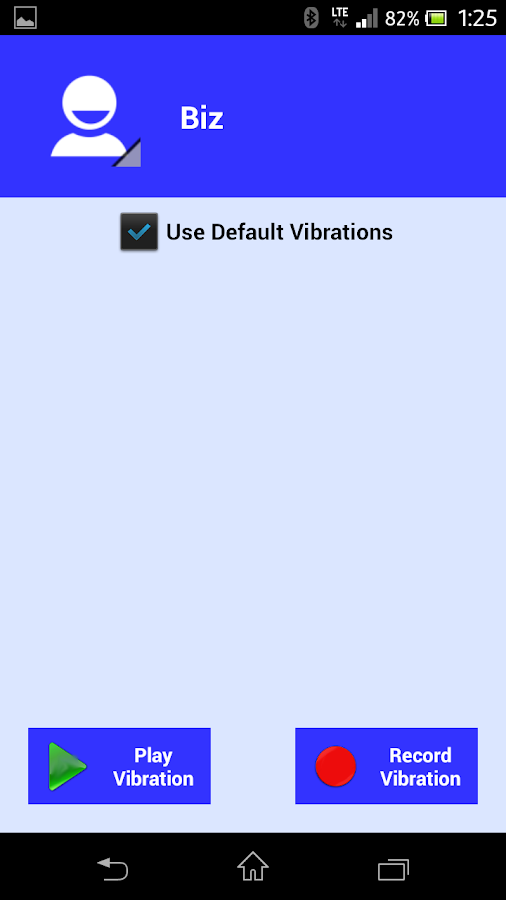 MorseCall Custom Vibrations - screenshot