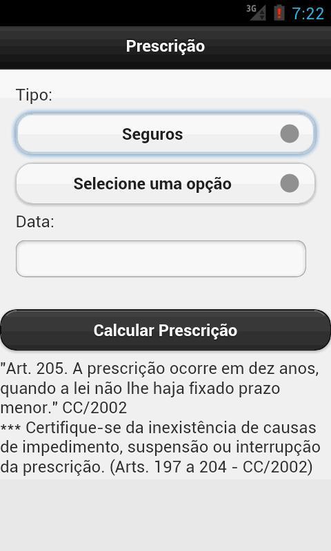 Prescrição Direito - screenshot