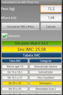 Calculadora IMC/Peso ideal Pro- screenshot thumbnail