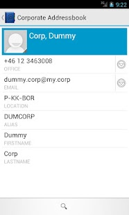 Corporate Addressbook - screenshot thumbnail
