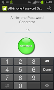 All-in-One Password Generator - náhled