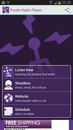 Purple Radio Player