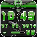 dragon digital clock green icon