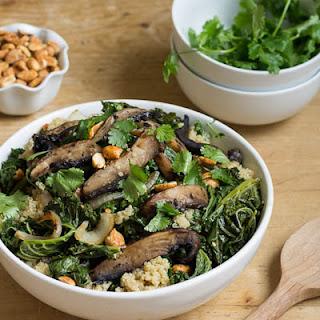 Spicy Peanut Portobello Kale Bowl