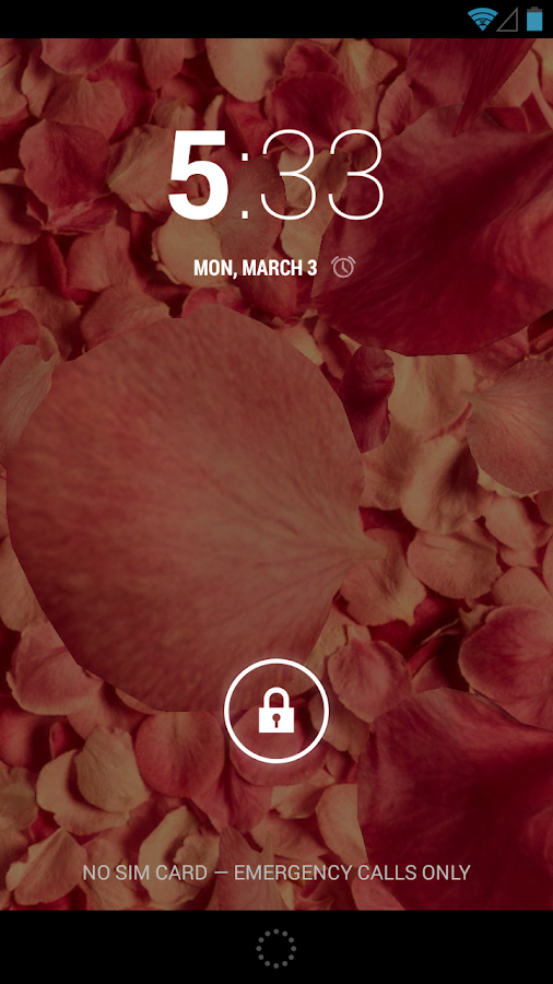 Petals 3D live wallpaper- screenshot