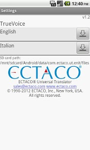 English - Italian Translator- screenshot thumbnail
