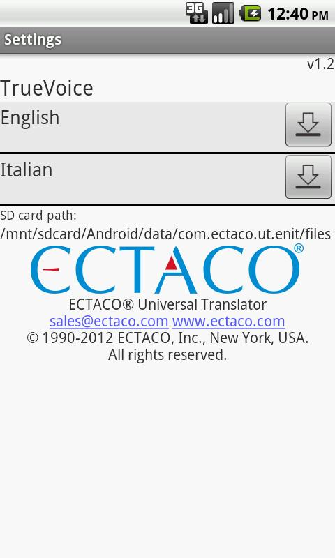 English - Italian Translator- screenshot