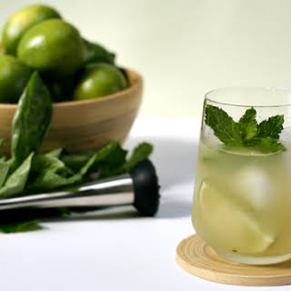 Dark Rum Mojito with Basil.