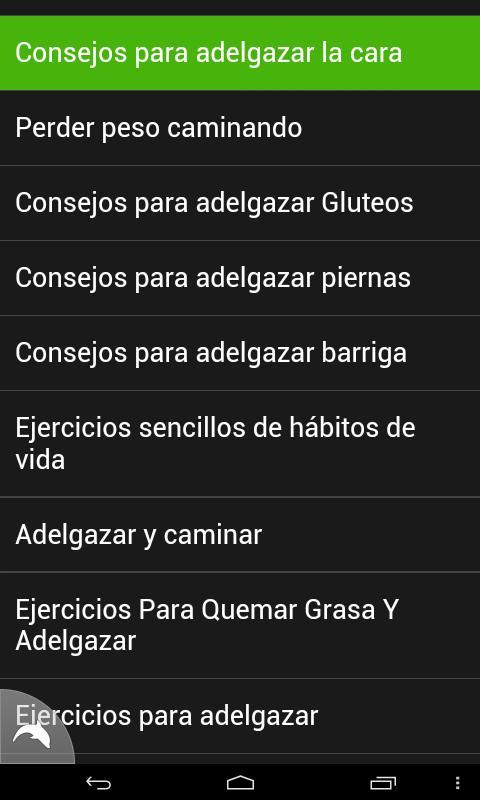 Ejercicios para Adelgazar - screenshot