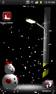 Happy Winter 3D LWP Free screenshot 1