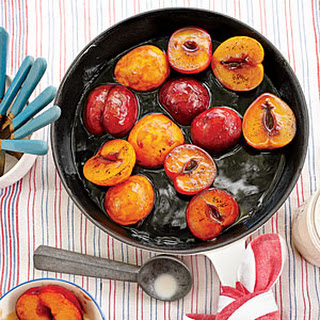 Bourbon-Soaked Plums.