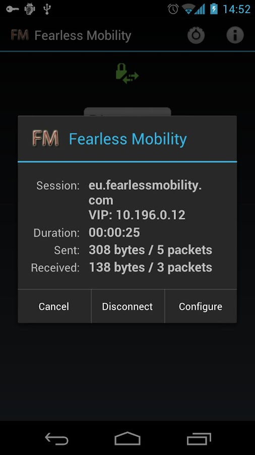 Fearless Mobility VPN - screenshot