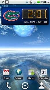 Florida Gators Clock Widget- screenshot thumbnail