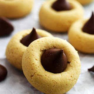 Chocolate Pumpkin Thumbprint Cookies