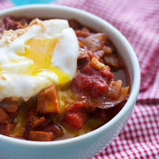 Spicy Breakfast Stew (with the perfect poached egg).