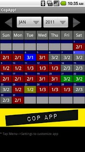 CopApp ! Calendar Schedule- screenshot thumbnail