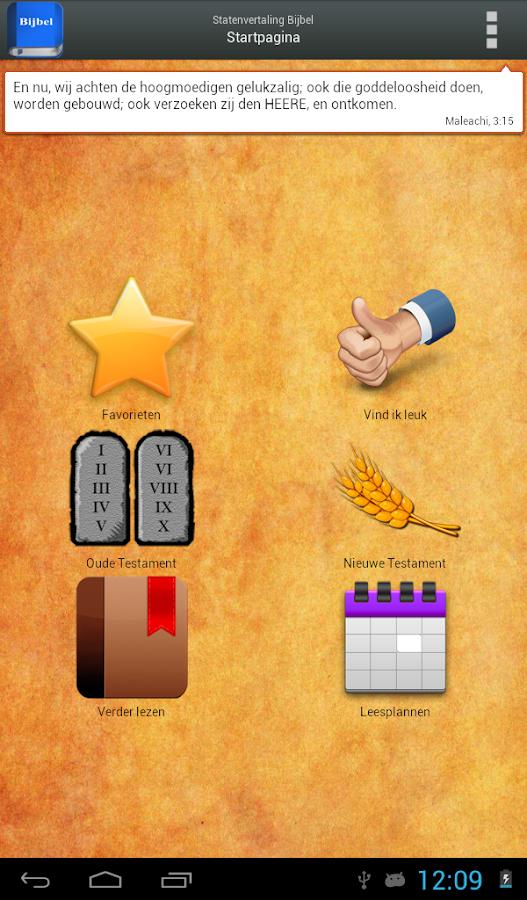 Statenvertaling Bijbel- screenshot