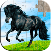 Horse Puzzles for Kids: Jigsaw