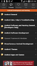 XDA for Android 2.3 Screenshot 3