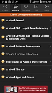 XDA for Android 2.3- screenshot thumbnail
