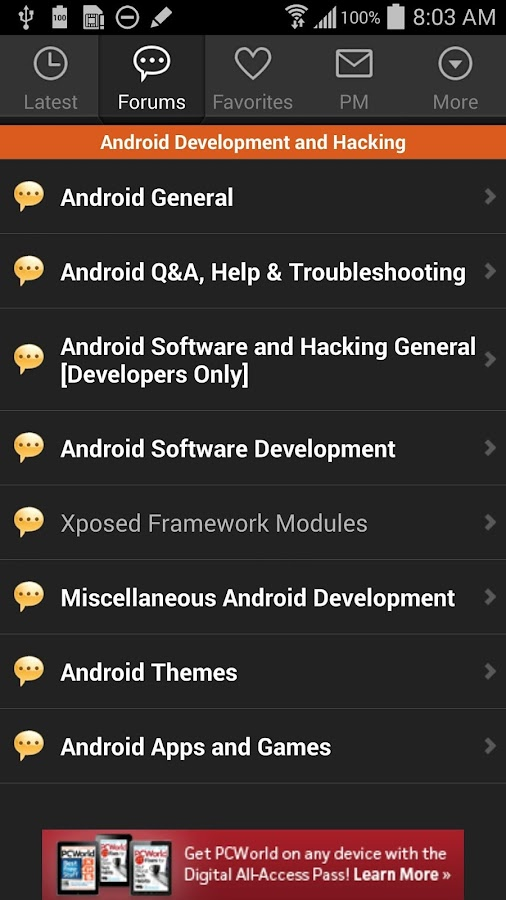 XDA for Android 2.3- screenshot
