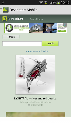 Deviantart Mobile View
