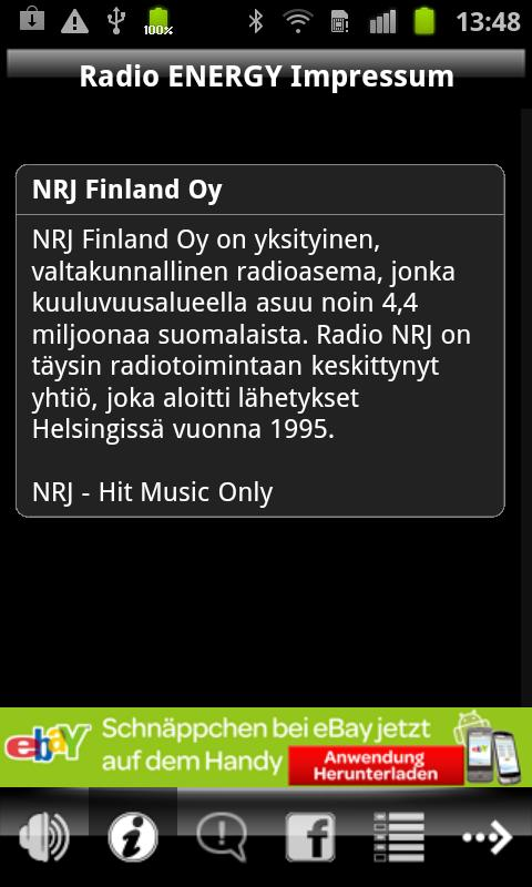 NRJ Finland - screenshot