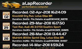 Screenshot of aLapRecorder