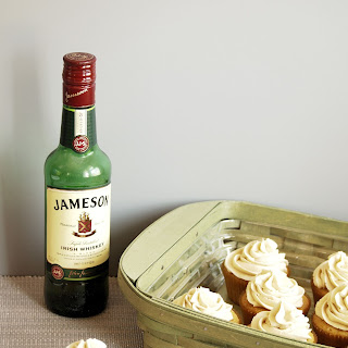 Cinnamon Browned Butter Cupcakes with Whiskey Salted Caramel Buttercream.