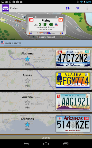 android Plates Family Travel Game Screenshot 0