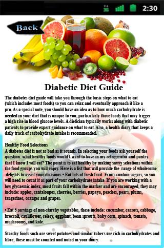 Diabetic Diet Guide