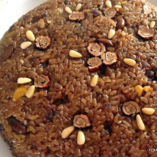 Yaksik, Sweet Rice Bar with Nuts and Korean Dates.