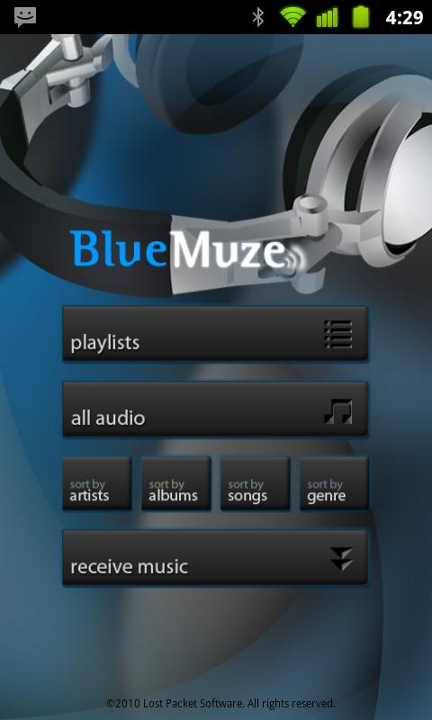 BlueMuze (Trial)- screenshot