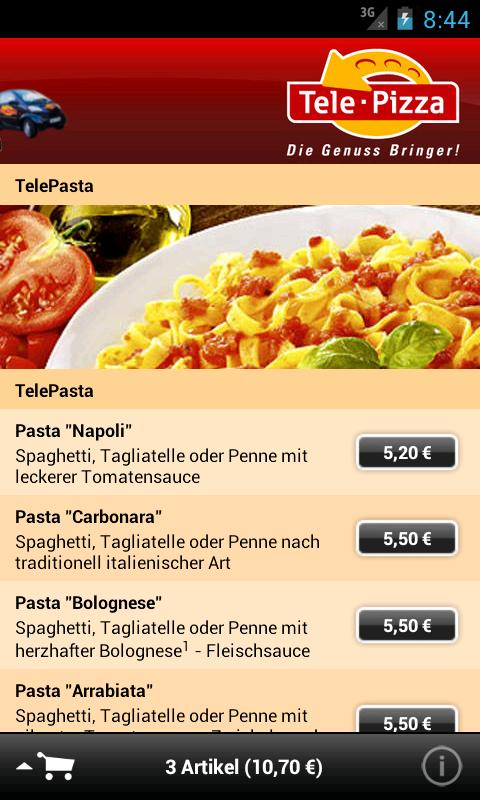 TelePizza - screenshot