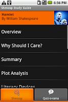 Screenshot of Hamlet: Shmoop Guide
