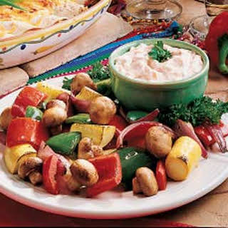 Roasted Vegetables with Dip.